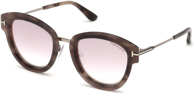Tom Ford - Mia 02 Coloured Havana/Gradient Pink Mirror