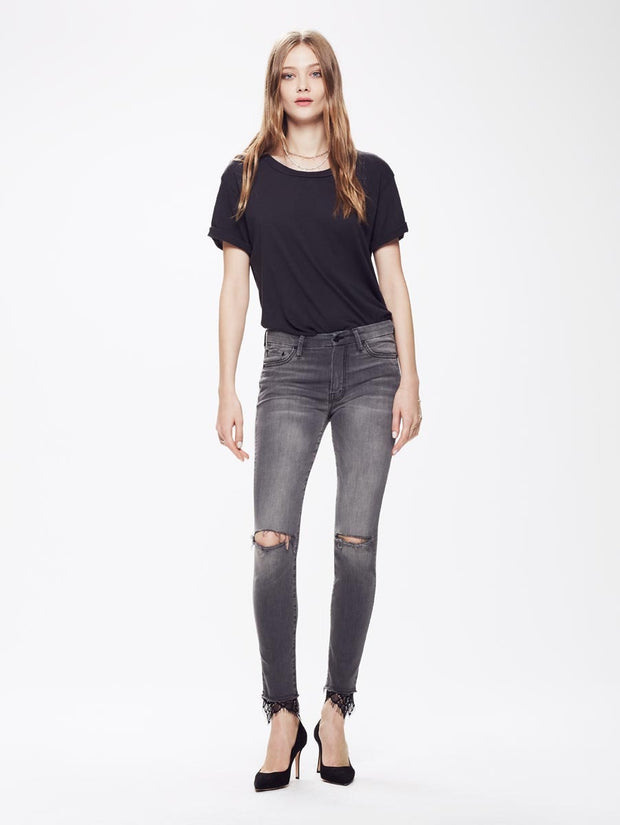 Mother - High Waisted Looker Dagger Ankle Fray - A Lacey Saloon