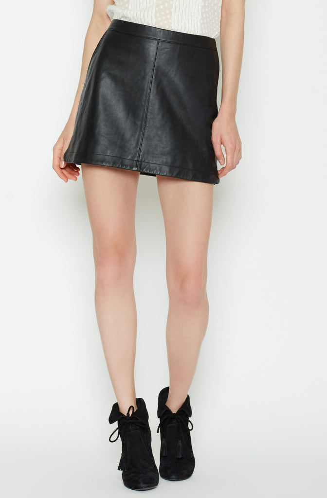 Joie JOIE - Mayfair Leather Skirt at Blond Genius - 2