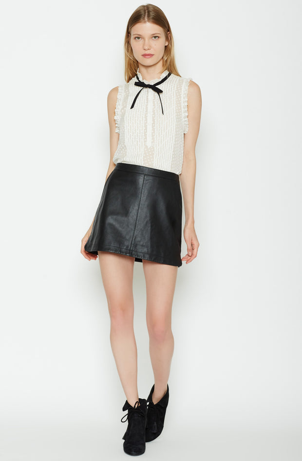 Joie JOIE - Mayfair Leather Skirt at Blond Genius - 1