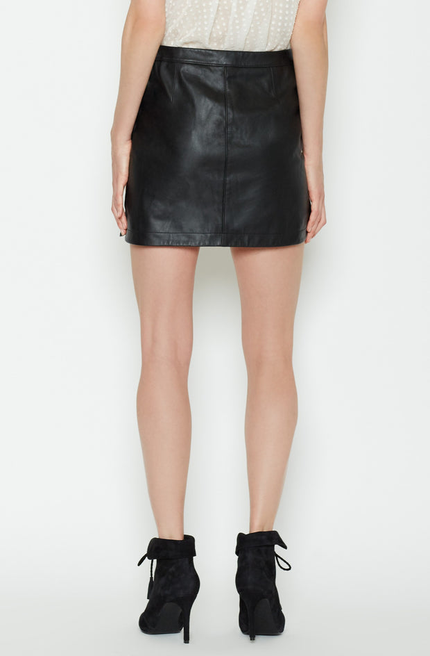 Joie JOIE - Mayfair Leather Skirt at Blond Genius - 3