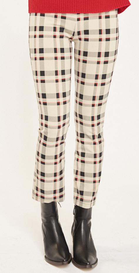 SANCTUARY - Mod Crop Legging Champagne Plaid