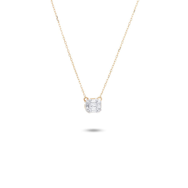 Adina - Multi Baguette 14K Gold Necklace