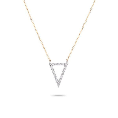 Adina - Pave Open Triangle Necklace