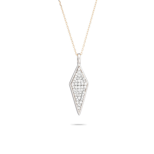 Adina Adina - Long Solid Pave Diamond Necklace at Blond Genius