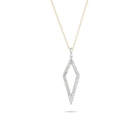 Adina - Long Open Pave Diamond Necklace