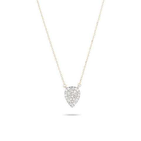Adina - Solid Pave Teardrop Necklace