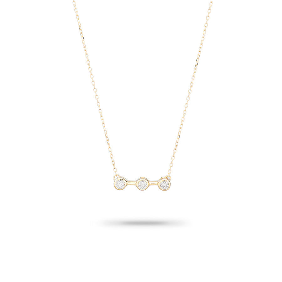 Adina ADI - 3 Diamond Necklace N622THRDN Yellow 14K at Blond Genius