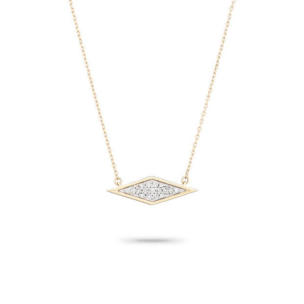 Adina ADI - Solid Pave Diamond Necklace Yellow 14K at Blond Genius
