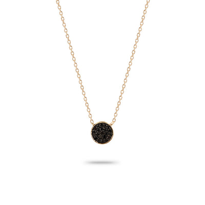 Adina Adina - Solid Pave Disc Necklace at Blond Genius
