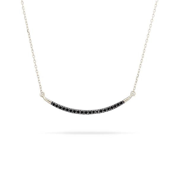 Adina - Large Pave Curve Necklave Sterling Silver