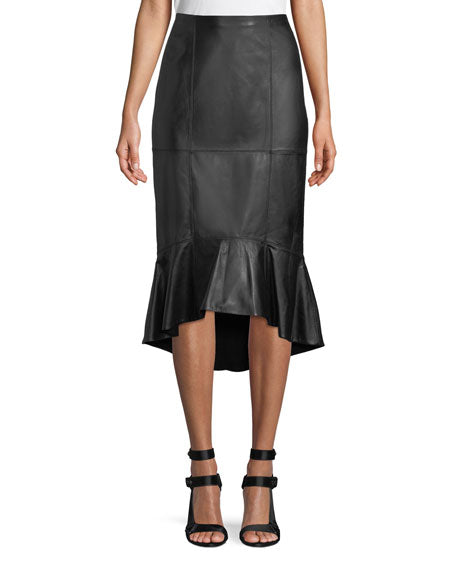 ALICE + OLIVIA- Kina Leather Pencil Skirt