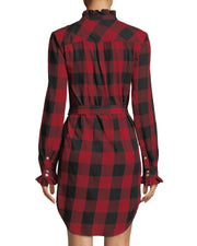 Frame - Long-Sleeve Flannel Check Dress