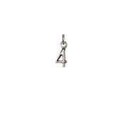Pyrrha- Number 4 Charm in Silver