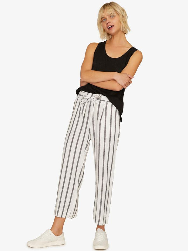 Sanctuary - Inland Sashed Crop Pant Still Life Stripe