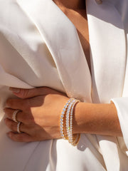 LUV AJ - The Ballier Bracelet 4mm in Gold