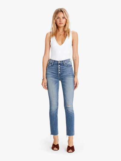 Mother Denim - Pixie Dazzler Ankle Fray Jeans in Popism