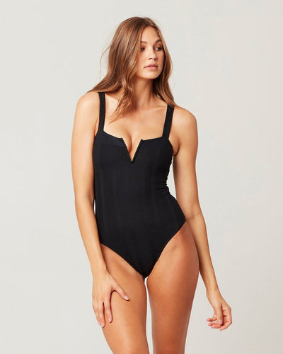 L*Space - Cha Cha One Piece Classic Swimsuit in Black