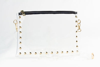 Clearly Handbags - Parker in Gold Black