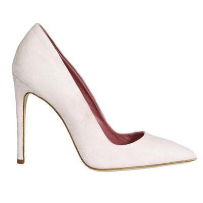 Dee Keller Gold Paige Pointed Toe Pump Pale Pink at Blond Genius - 1
