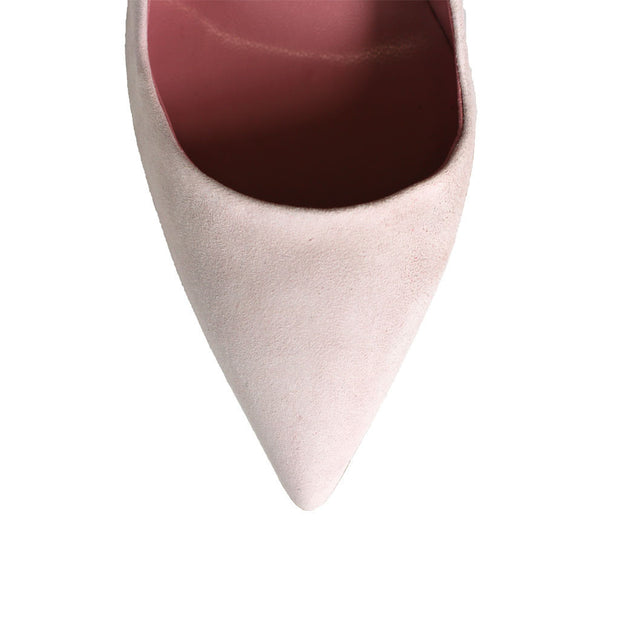 Dee Keller Gold Paige Pointed Toe Pump Pale Pink at Blond Genius - 4