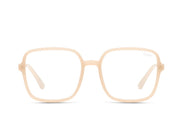 QUAY - 9 to 5 Glasses in Peach/Clear Blue Light Lens