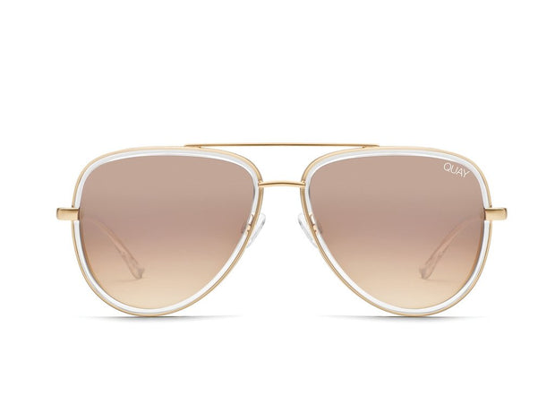 Quay - All In Sunglasses - Clear/Brown
