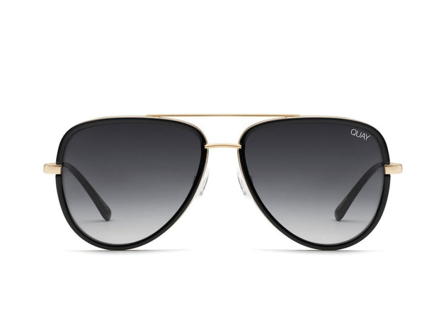 Quay - All In Sunglasses - Black/Smoke