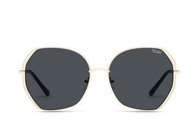 QUAY - Big Love Sunglasses in Gold/Smoke Lens