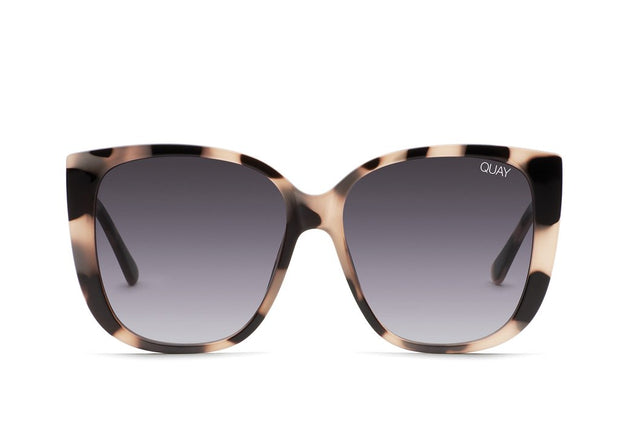 QUAY - Ever After Sunglasses in Milky Tort/Smoke Fade Lens