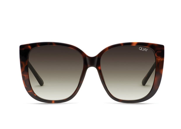 QUAY - Ever After Sunglasses in Tort/Smoke to Taupe Lens
