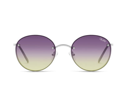 QUAY - Farrah Sunglasses with Silver/Purple Yellow Lens