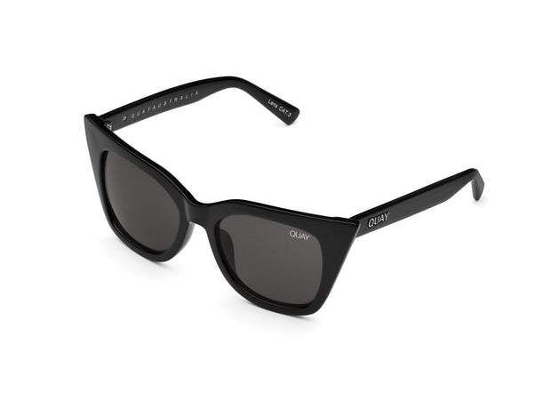 QUAY - Harper Sunglasses Shiny Black/Smoke Lens