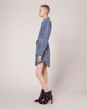 Rag & Bone - Shirt Dress Medium Indigo
