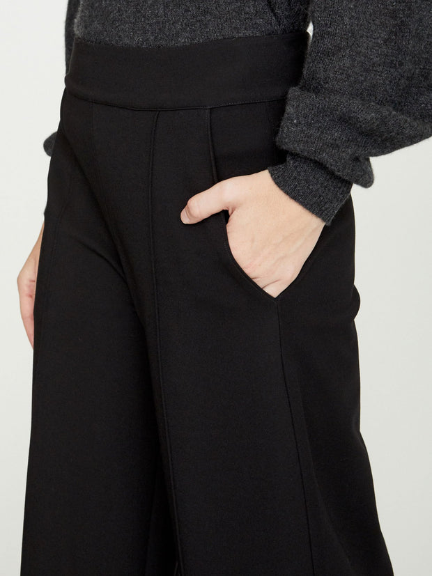 BROCHU WALKER - Rhodes Wide Leg Cropped Trouser Black