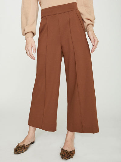 BROCHU WALKER - Rhodes Wide Leg Cropped Trouser Sienna