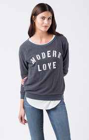 SOL Los Angeles Sol Angeles - MODERN LOVE PULLOVER indigo at Blond Genius - 1