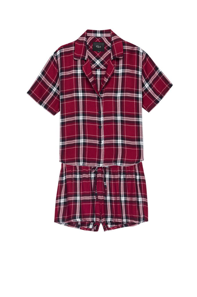 Rails - Short Sleeve Short Set - Crimson/Navy