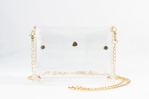 Clearly Handbags - Rainey See-Through Bag in Gold