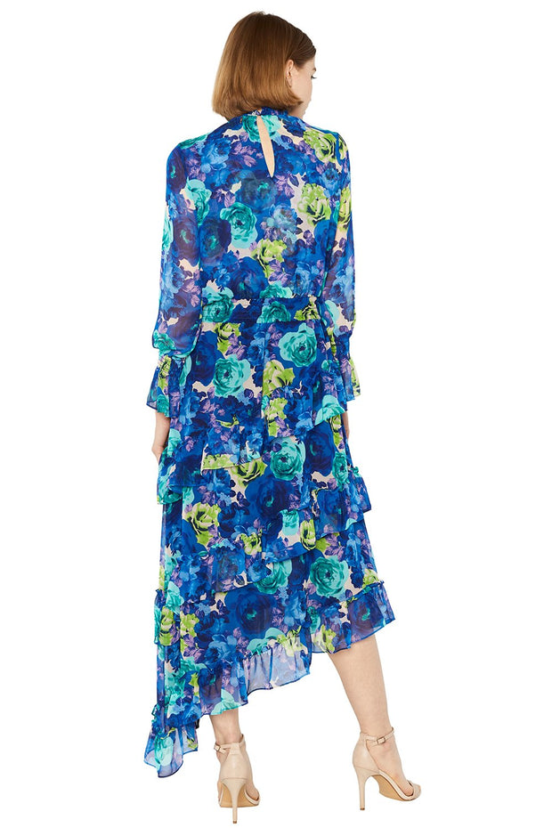 MISA - Rania Dress in Blue Multi