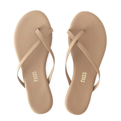 TKEES - Riley Sandal in Mattee Nude