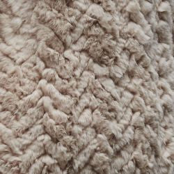 H-Brand H-Brand- Hand Knitted Rabbit Fur Long Vest Libby Rose at Blond Genius - 3