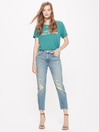 MOTHER - Cardinal Sinner Ankle Skinny Jeans in Saving Grace