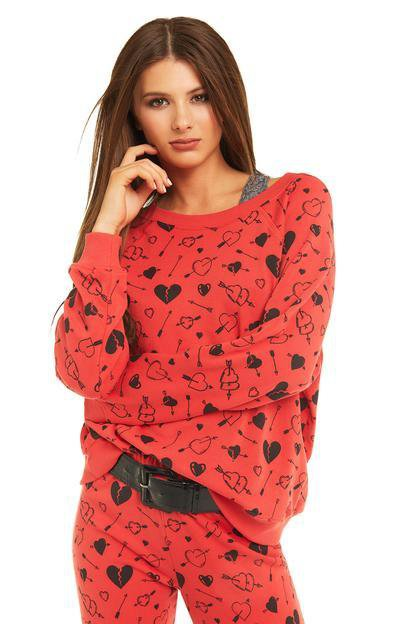 Wildfox - Cupid Strikes Sommers Sweater in Scarlet