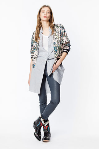 Zadig & Voltaire - Billy Reversible Bomber Jacket in Paisley Corolle