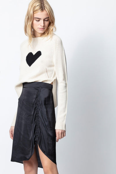 Zadig & Voltaire - Jiji Satin Skirt in Noir