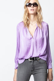 Zadig & Voltaire - Tink Satin Tunic in Mauve