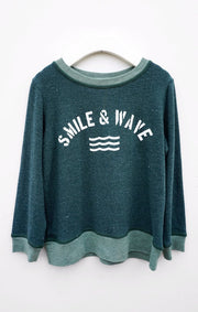 Sol Angeles - Kids Smile & Wave Pullover Pine