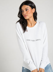 n:Philanthropy - Belize Sweatshirt (Graphic) White