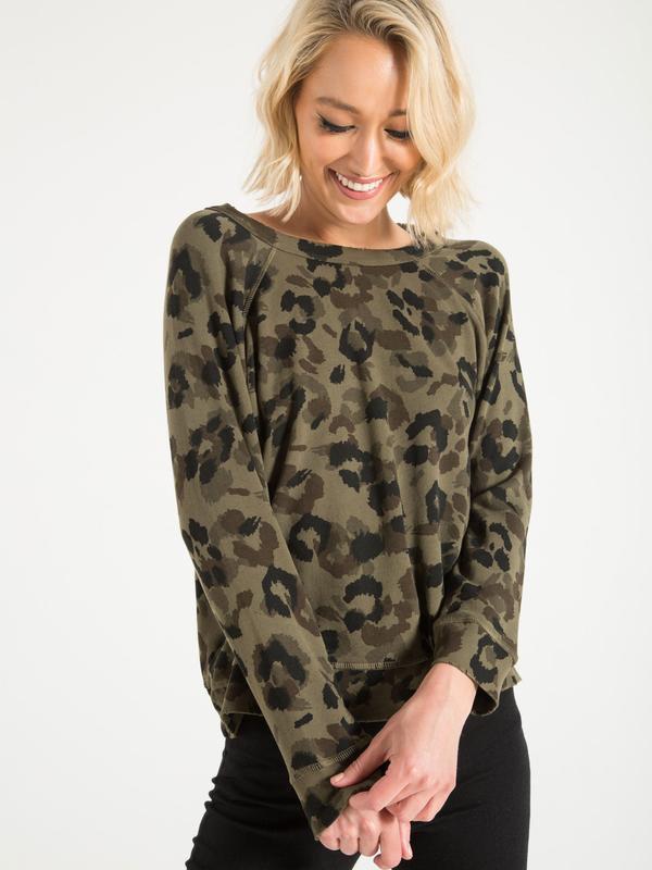 Philanthropy - Montreal Sweatshirt in Army Leopard